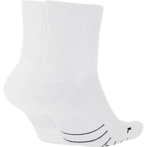 Nike Multiplier Ankle Socks 2 Pack White / Black - achilles heel