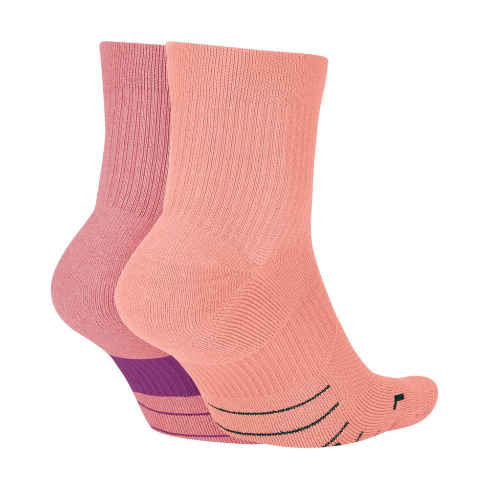Nike Multiplier Ankle Socks 2 Pack Pink / Peach - achilles heel