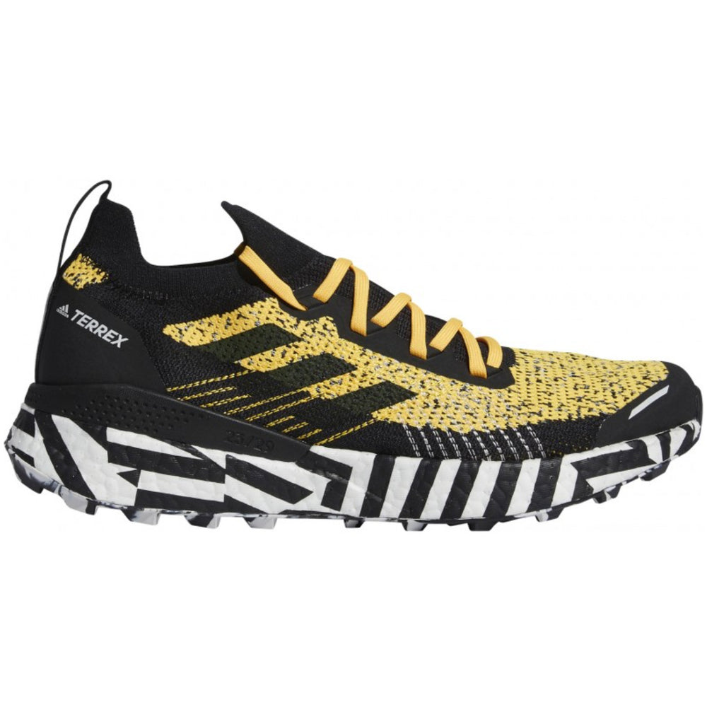 Adidas Men's Terrex Two Ultra Parley Trail Running Shoes Solar Gold / Core Black / Cloud White - achilles heel
