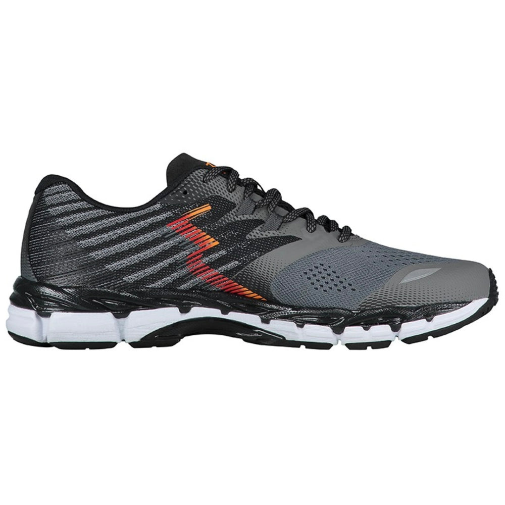 361 Degrees Men's Nemesis 2E Width Running Shoes Castlerock / Black - achilles heel