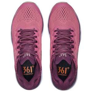361 Degrees Women's Maraki 3 Running Shoes Deco Rose / Potent Purple - achilles heel
