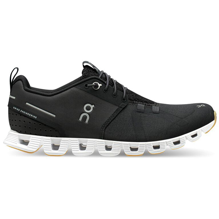 On Women's Cloud Terry Running Shoes Black / White - achilles heel