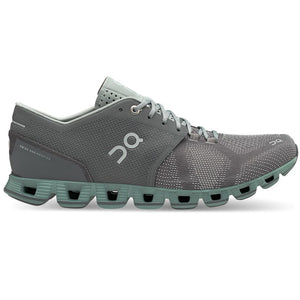 On Men's Cloud X Running Shoes Rock / Sea - achilles heel