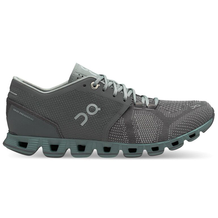 On Women's Cloud X Running Shoes Rock / Sea - achilles heel