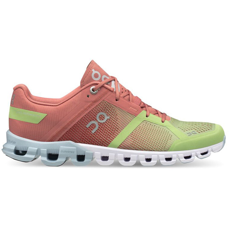 On Women's Cloudflow Running Shoes Guava / Dustrose - achilles heel