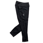 On Women's 7/8 Tight Black - achilles heel