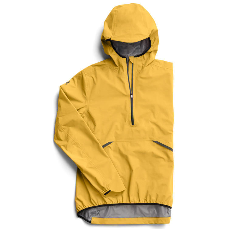 On Women's Waterproof Anorak Mustard - achilles heel
