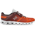 On Men's Cloudflow Running Shoes Flare / Dawn - achilles heel