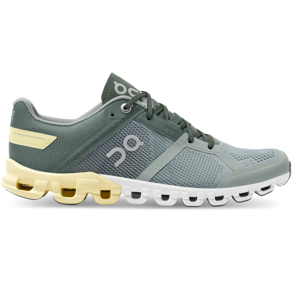 On Women's Cloudflow Running Shoes Sea / Limelight - achilles heel
