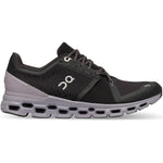 On Women's Cloudstratus Running Shoes Black / Lilac - achilles heel