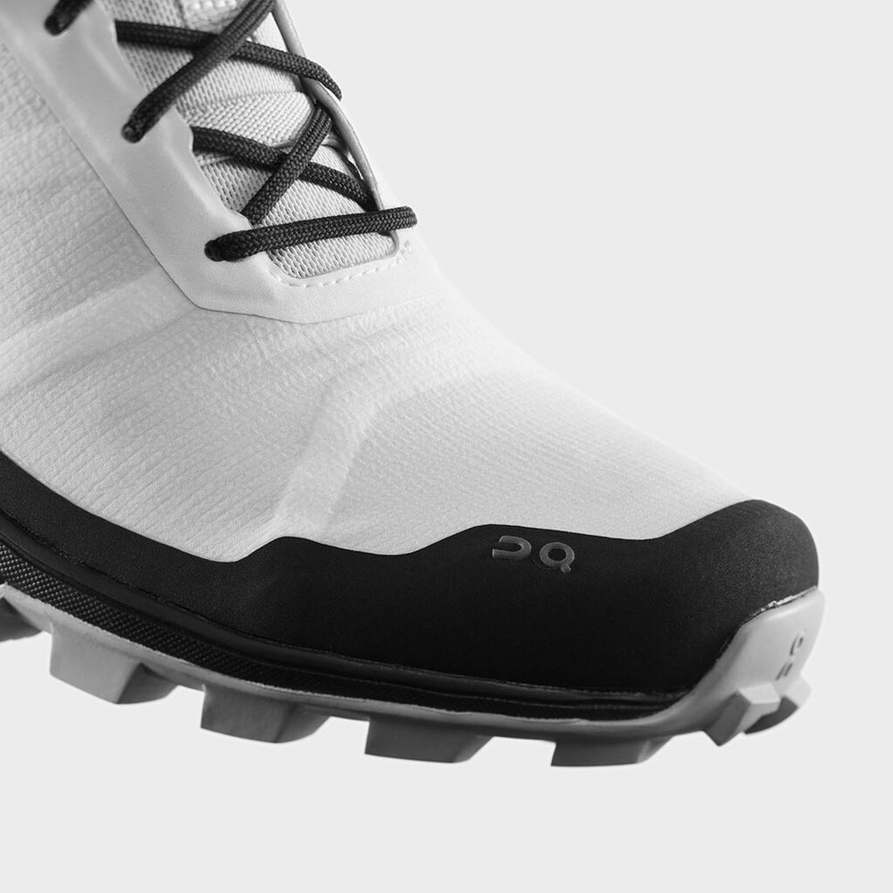 On Men's Cloudventure Peak Trail Running Shoes White / Black