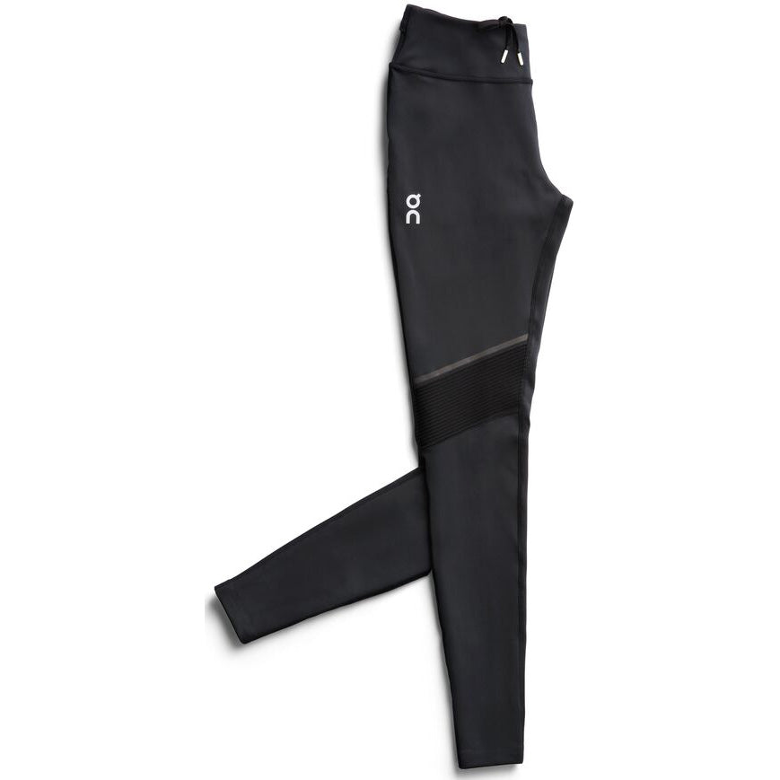 On Women's Long Tights Black - achilles heel