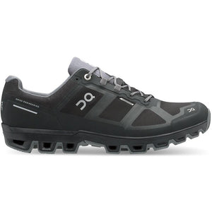 On Women's Cloudventure Waterproof Trail Running Shoes Black / Graphit - achilles heel