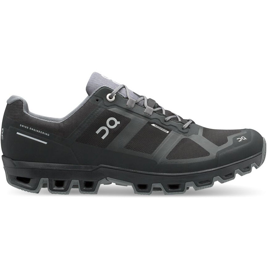 On Men's CloudVenture Waterproof Trail Running Shoes Black / Graphit