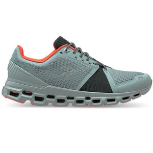 On Men's Cloudstratus Running Shoes Cobble / Ivy - achilles heel