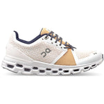 On Women's Cloudstratus Running Shoes White / Almond - achilles heel
