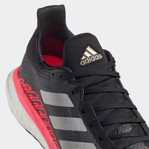 adidas Women's Solar Glide ST 3 Running Shoes Grey / Crystal White / Signal Pink - achilles heel