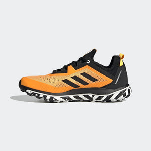 Adidas Men's Terrex Agravic Flow Trail Running Shoes Solar Gold / Core Black / Cloud White - achilles heel