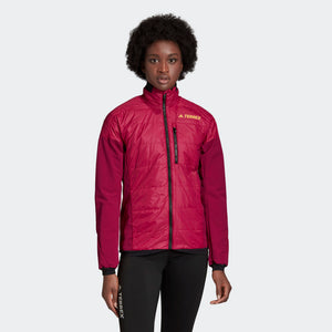 Adidas Women's Terrex Hybrid Insulation Jacket Power Berry - achilles heel