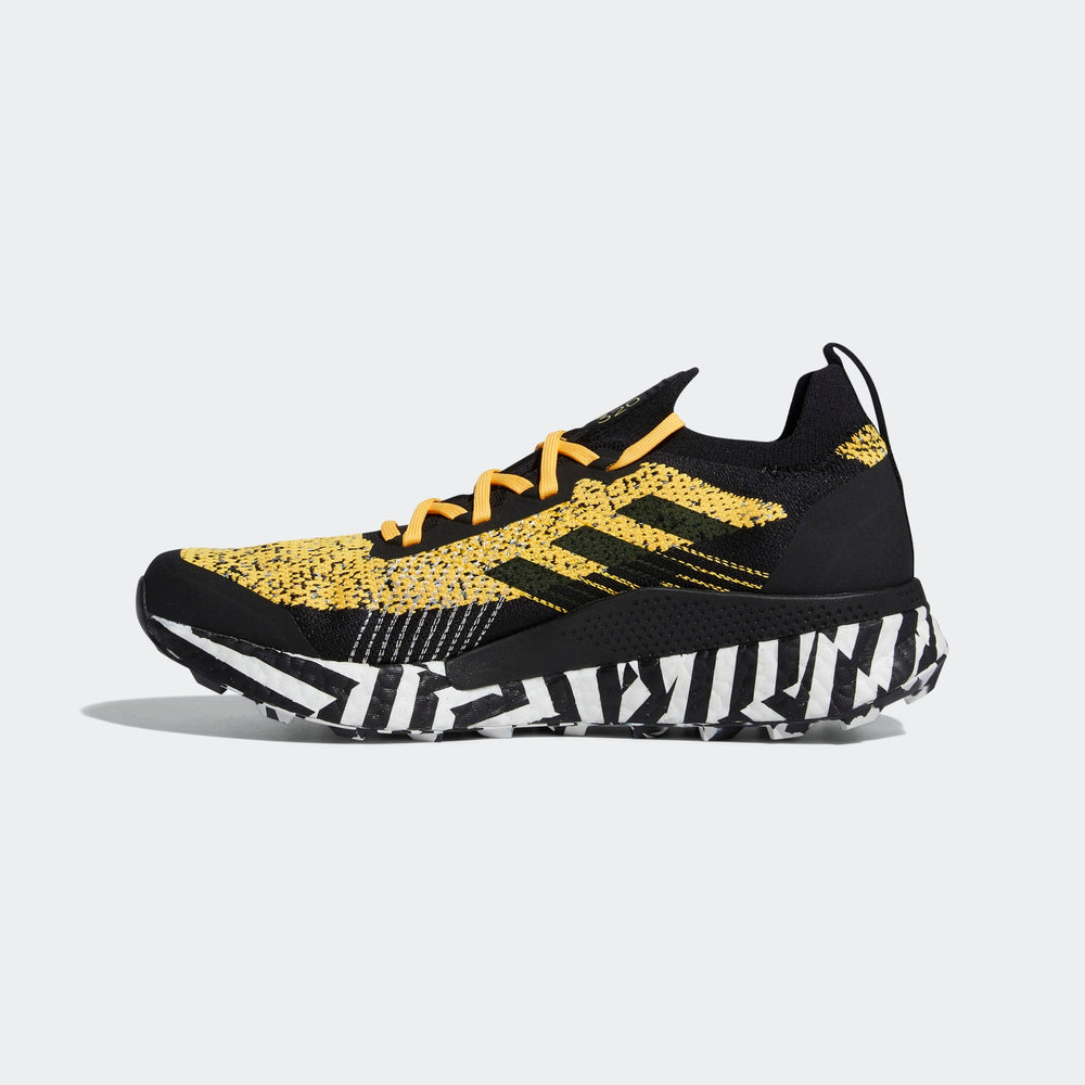 Adidas Women's Terrex Two Ultra Parley Trail Running Shoes Solar Gold / Core Black / Cloud White - achilles heel