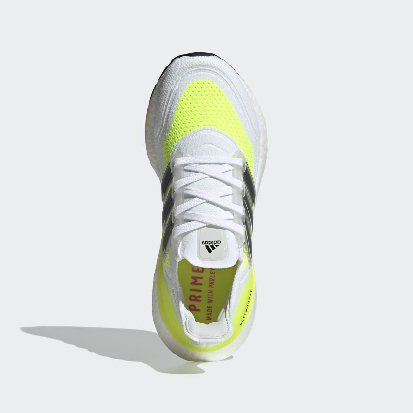 Adidas Women's Ultraboost 21 Running Shoes White Cloud / Core Black / Solar Yellow - achilles heel