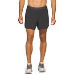 Asics Men's Road 2 In 1 5 Inch Short Graphite Grey - achilles heel