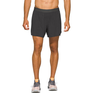 Asics Men's Road 2 In 1 5 Inch Shorts Graphite Grey - achilles heel