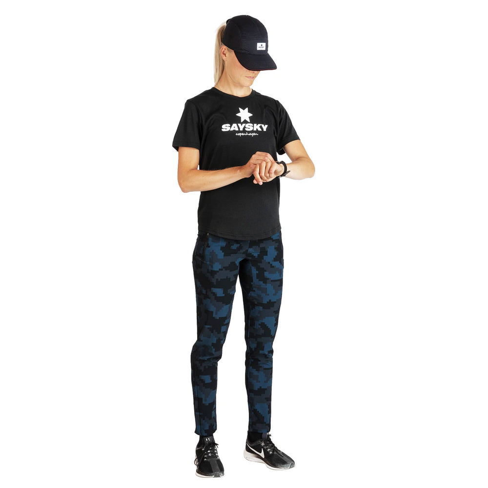 SAYSKY Classic Workout Tee Black - achilles heel
