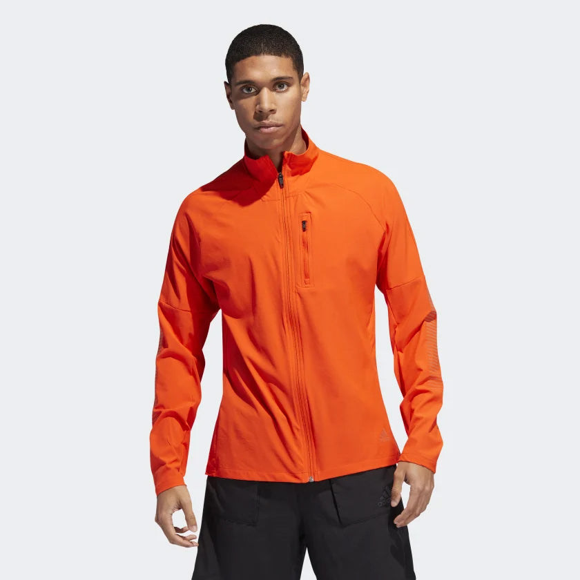 adidas Men's Rise Up And Run Jacket Orange - achilles heel