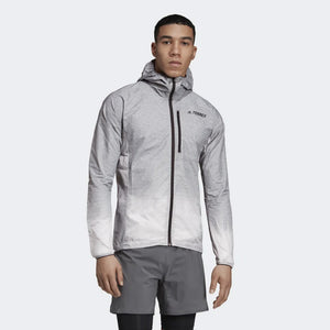 adidas Men's Terrex Agravic Windweave WindBreaker Jacket Grey Four / White - achilles heel