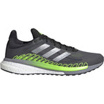 Adidas Men's Solar Glide ST 3 Running Shoes Grey / Silver Metallic / Signal Green - achilles heel
