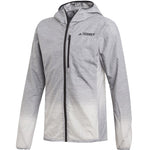adidas Men's Terrex Agravic Windweave WindBreaker Jacket Grey Four / White