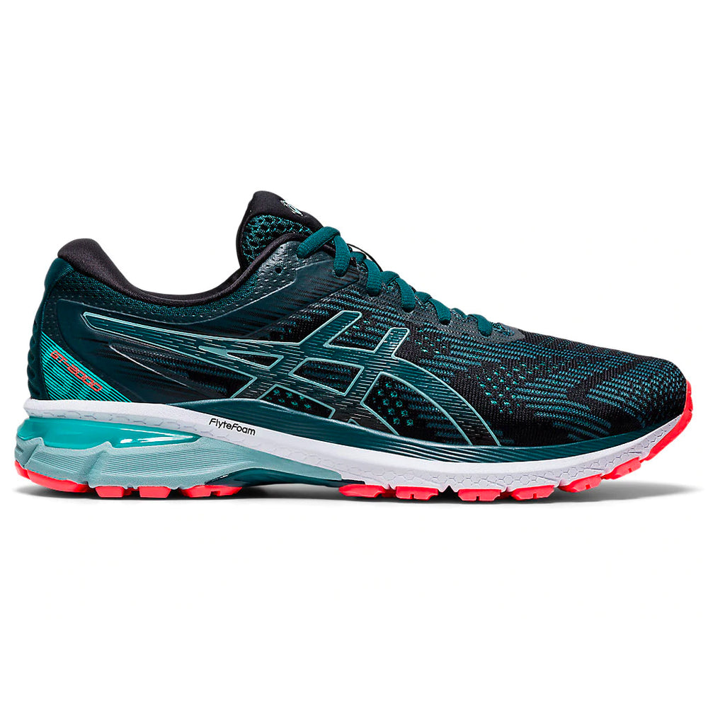 Asics Men's GT-2000 8 Running Shoes Black / Magnetic Blue - achilles heel