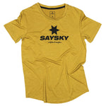 SAYSKY Classic Pace Tee Olive Oil Melange - achilles heel