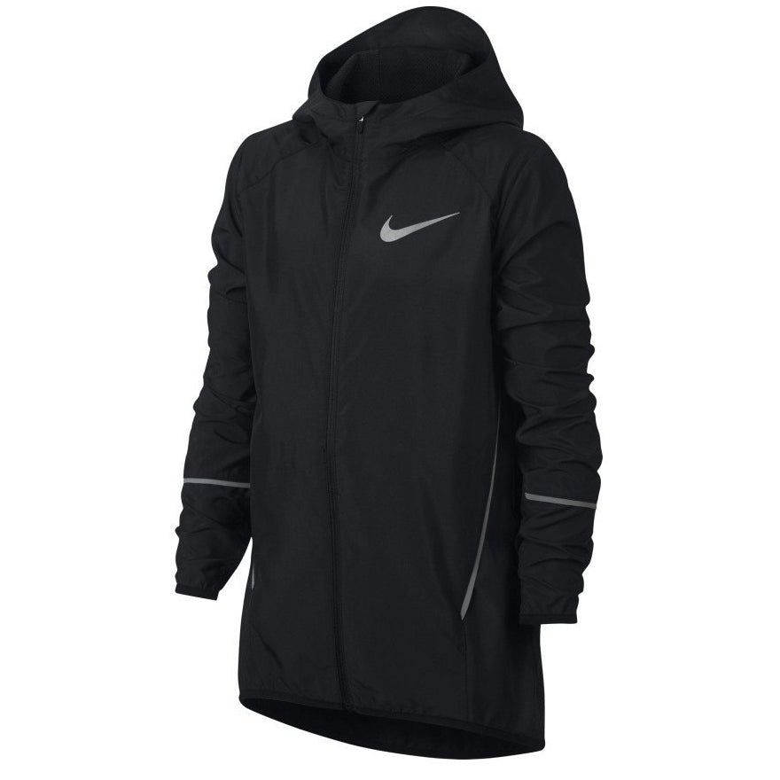 Nike Kids Run HD Running Jacket Black - achilles heel