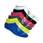 Asics Men's No-Show Socks 6 Pack Multi - achilles heel
