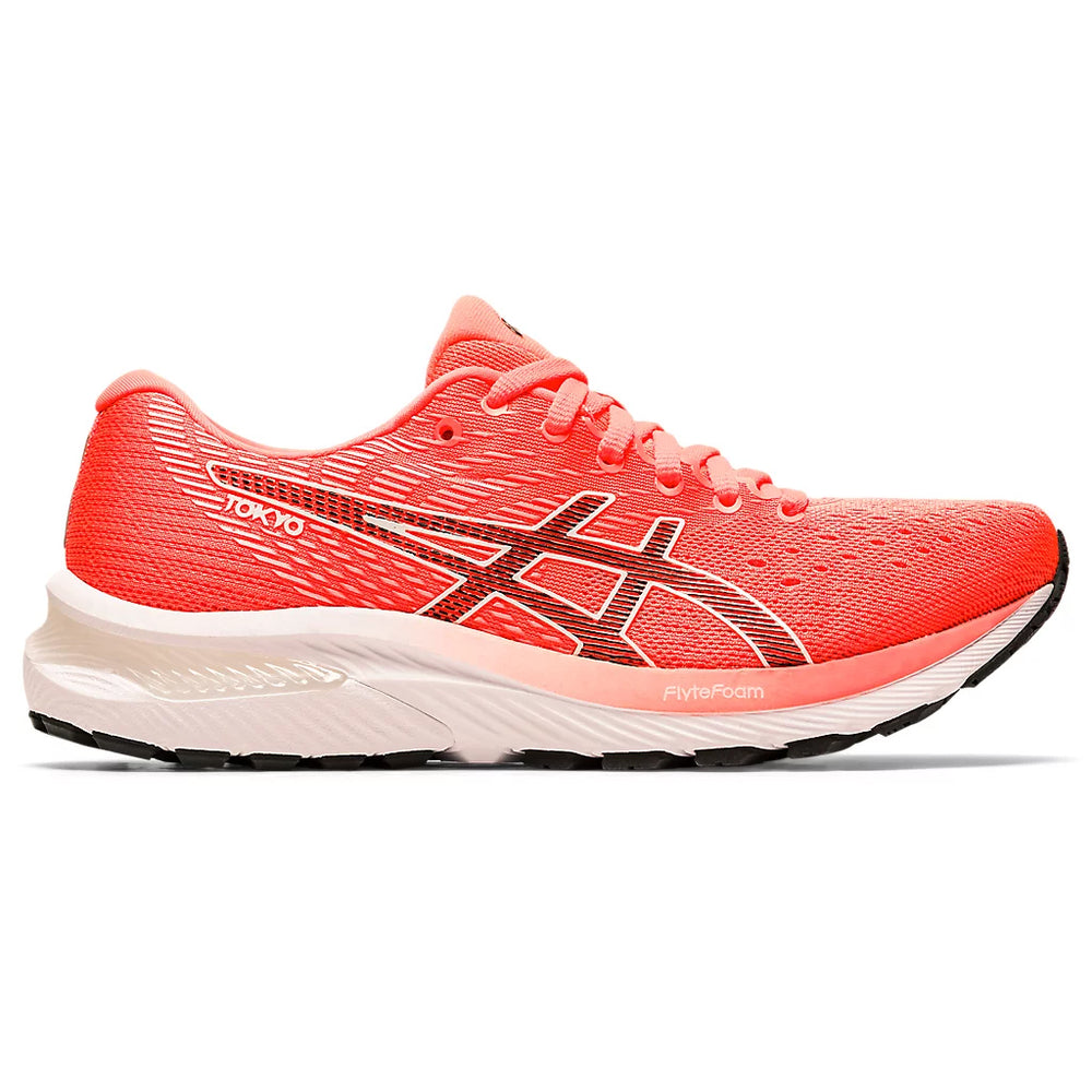 Asics Women's Gel-Cumulus 22 Tokyo Running Shoes Sunrise Red / Black - achilles heel