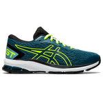 Asics Kids GT 1000 9 GS Running Shoes Magnetic Blue / Safety Yellow - achilles heel