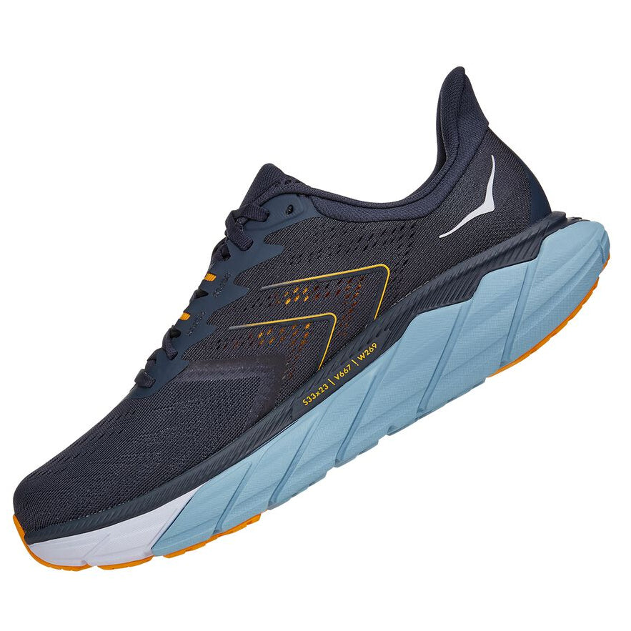 Hoka Men's Arahi 5 Wide Fit Running Shoes Ombre Blue / Blue Fog - achilles heel