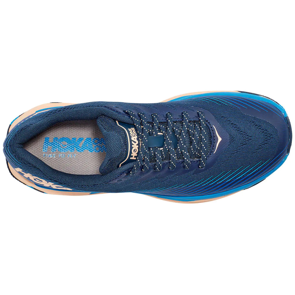 Hoka Women's Torrent 2 Trail Running Shoes Indigo Bunting / Bleached Apricot - achilles heel