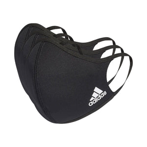 Adidas Face Covers 3 Pack Black - achilles heel