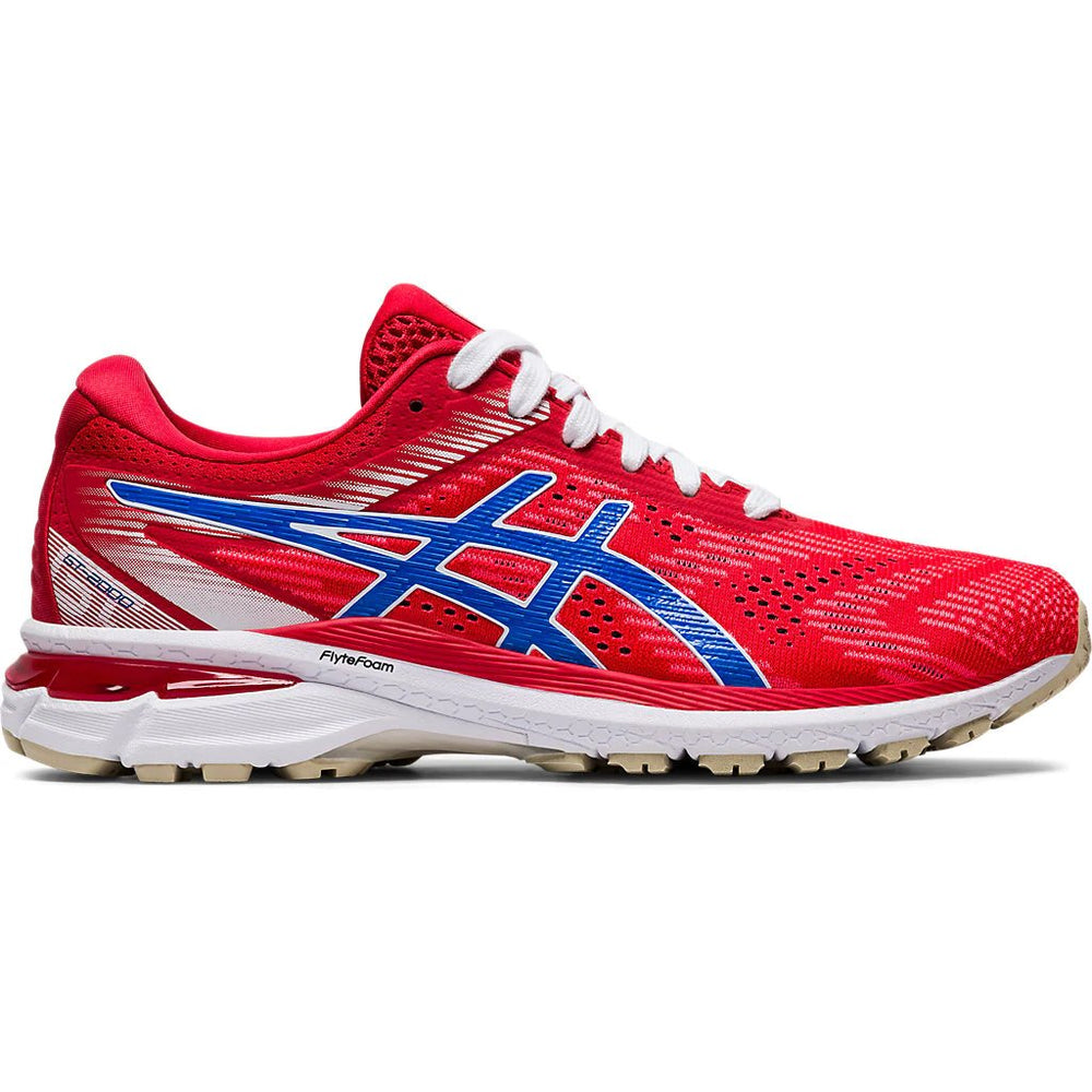 Asics Men's GT-2000 8 Tokyo Running Shoes Classic Red / Electric Blue - achilles heel