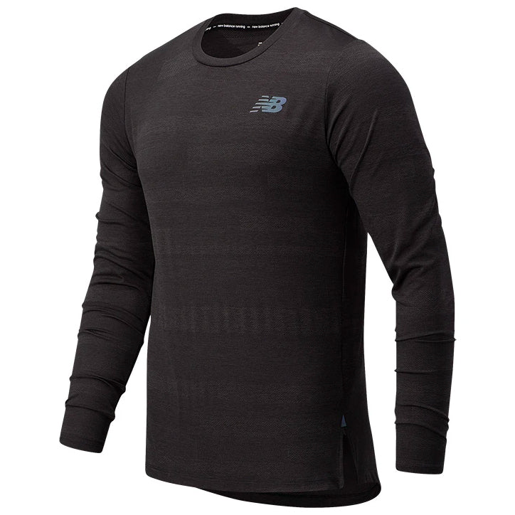New Balance Men's Q Speed Fuel Jacquard Top Black Heather - achilles heel