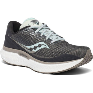 Saucony Women's Triumph 18 Running Shoes Charcoal / Sky - achilles heel