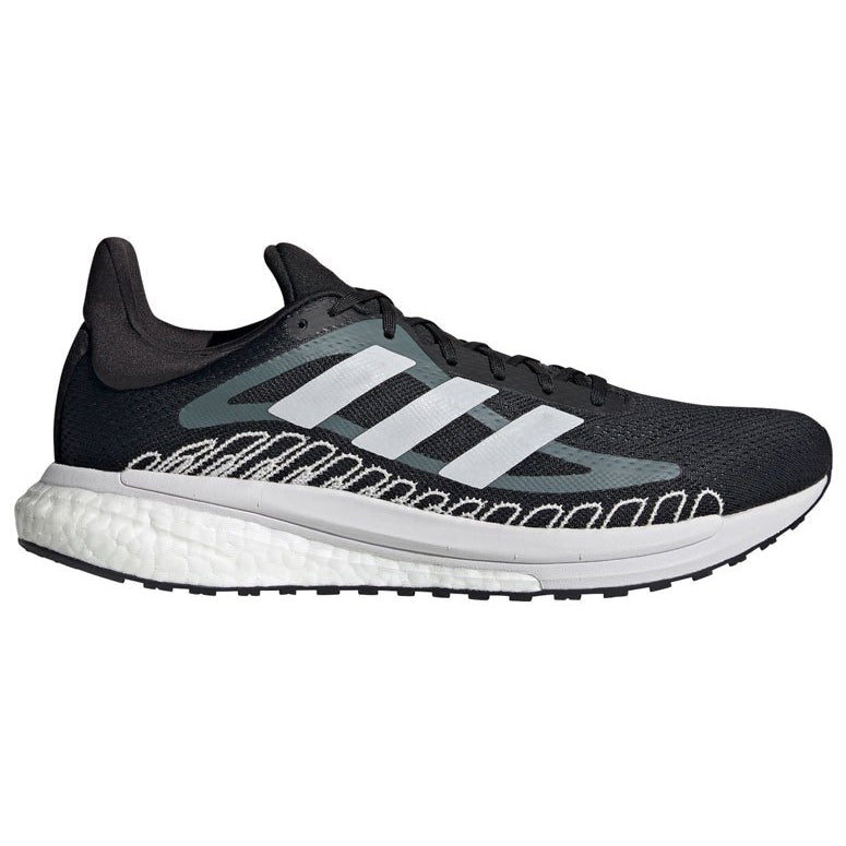 Adidas Men's Solar Glide ST 3 Running Shoes Core Black / Cloud White / Oxide - achilles heel