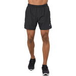 Asics Men's Cool 2 in 1 5 inch Short Performance Black - achilles heel