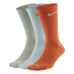 Nike Everyday Plus Lightweight Crew Socks 3 Pack Sky / Green / Orange - achilles heel