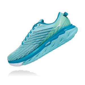 Hoka Women's Arahi 4 D Width Running Shoes Antigua Sand / Caribbean Sea - achilles heel