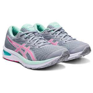Asics Kids Gel Cumulus 22 GS Running Shoes Piedmont Grey / Pink Glo - achilles heel