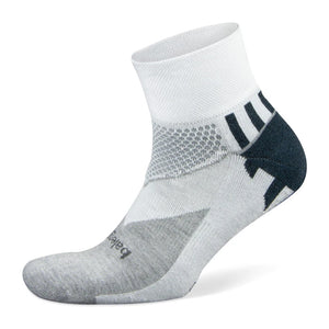 Balega Enduro V-Tech Running Socks White / Mid Grey - achilles heel